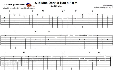 Old Mac Donald Had a Farm - easy for beginners - guitar