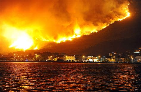 Photos of forest fires along Adriatic coasts of Montenegro
