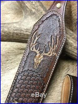 leather rifle sling » Custom leather Stock Wrap And Sling