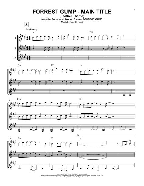 Forrest Gump - Main Title (Feather Theme) Sheet Music