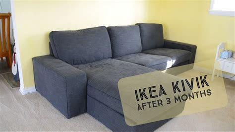 Our IKEA Kivik after 3 Months - YouTube