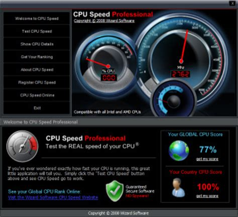 CPU Speed Professional - Free download and software