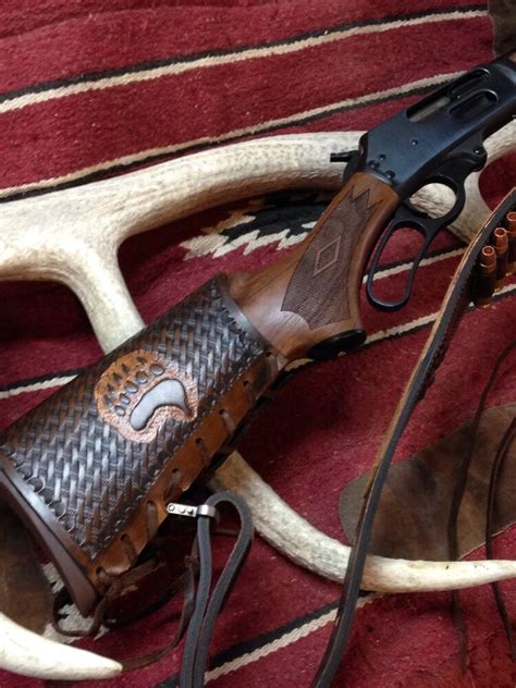 Custom leather sling stock wrap Made in the USA Marlin