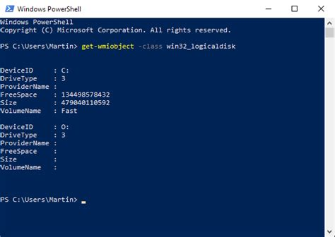 Look up hard disk information with PowerShell - Browser engine