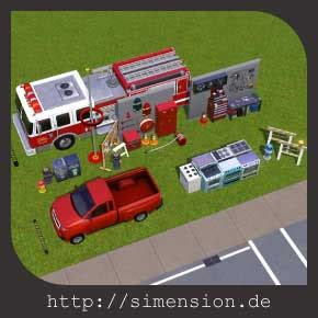 Sims 3 fire station - object collection for your own lot