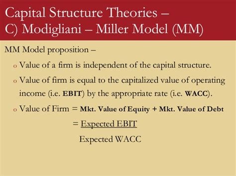 5 capital structure-theories