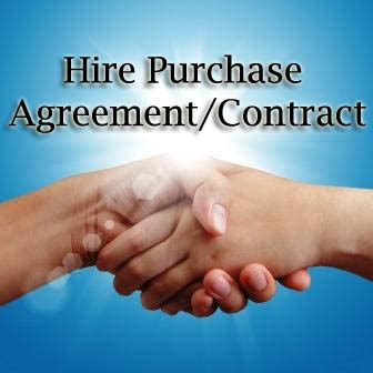 Hire Purchase Agreement / Contract